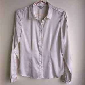 Guess silky collared shirt with piping